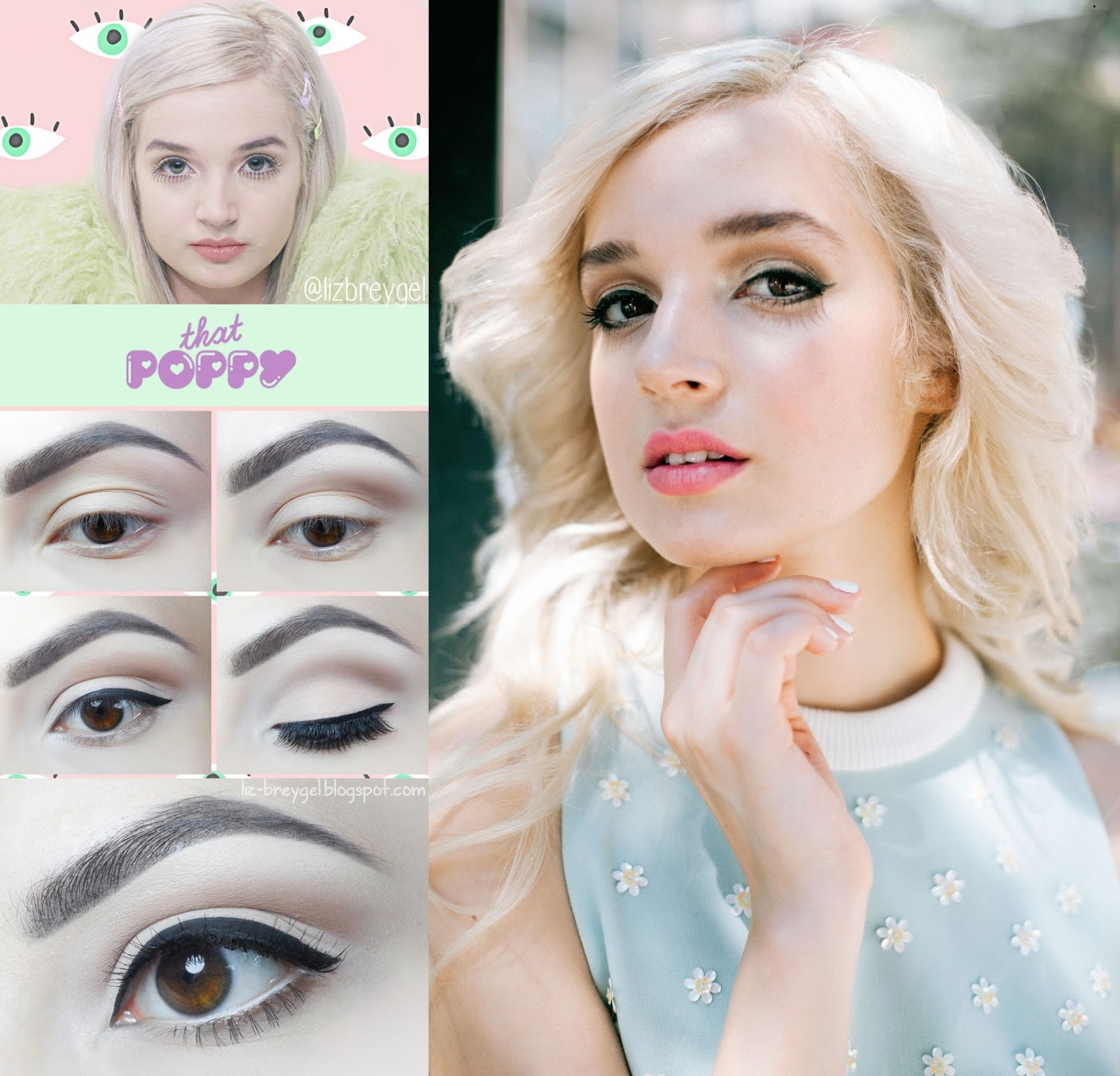 that poppy im poppy makeup tutorial step by step eye makeup for everyday brown eyes breygel