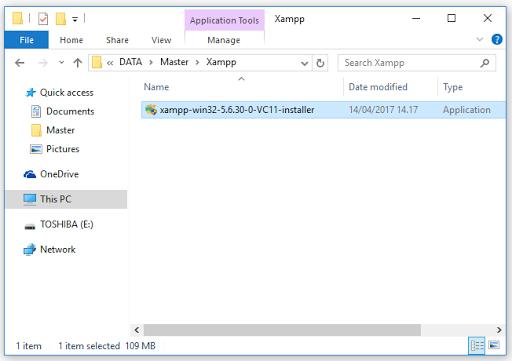 Cara Install Xampp
