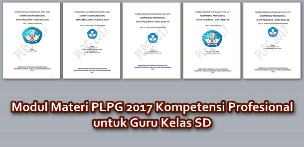 Modul Materi PLPG 2017 Kompetensi Profesional untuk Guru Kelas SD