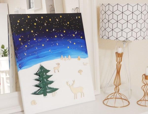 DIY : tableau de Noël lumineux