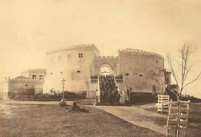 Forte de São Francisco Xavier da Barra, Vila Velha, ES. Circa 1910.