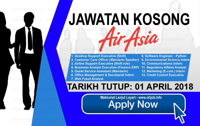 Jawatan Kerja Kosong AirAsia Berhad logo www.ohjob.info april 2018