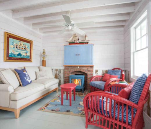 Rustic Nautical Beach Cottage Interiors