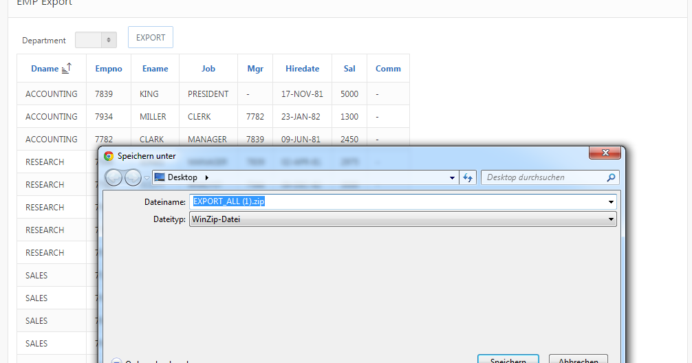 Custom CSV Export as ZIP file | APEX-AT-WORK by Tobias Arnhold