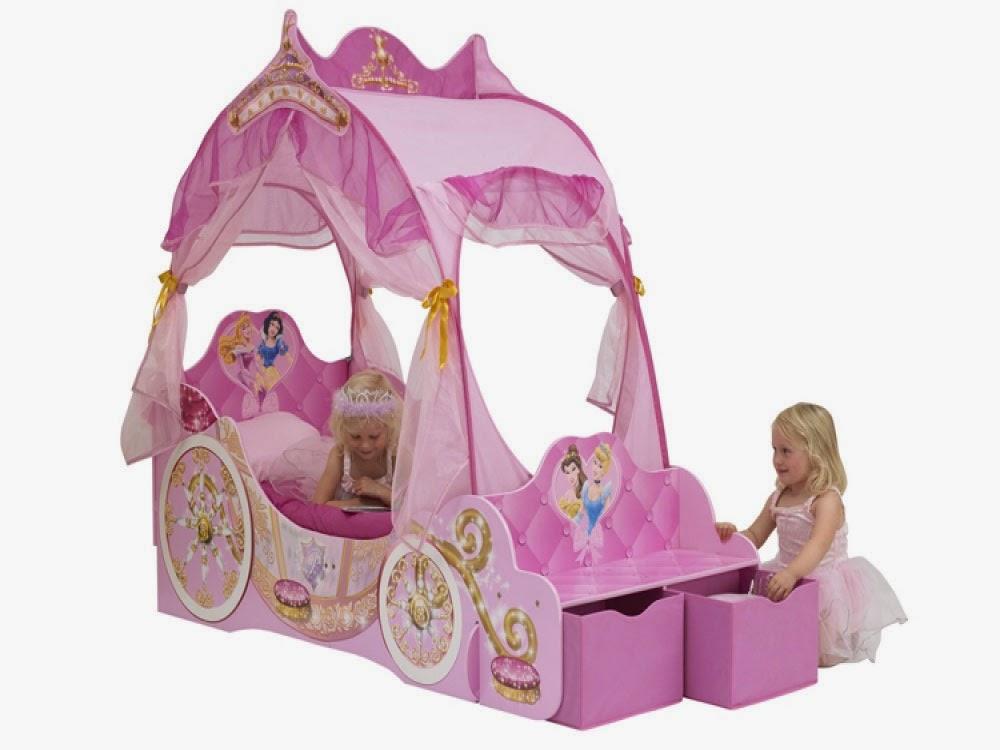 Curtain Ideas: Disney princess carriage canopy bed