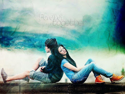 Forever Together - Love Couple Mobile Wallpaper