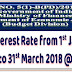 GPF Interest @ 7.6% w.e.f.1st January 2018 to 31st March 2018 - DoEA Resolution