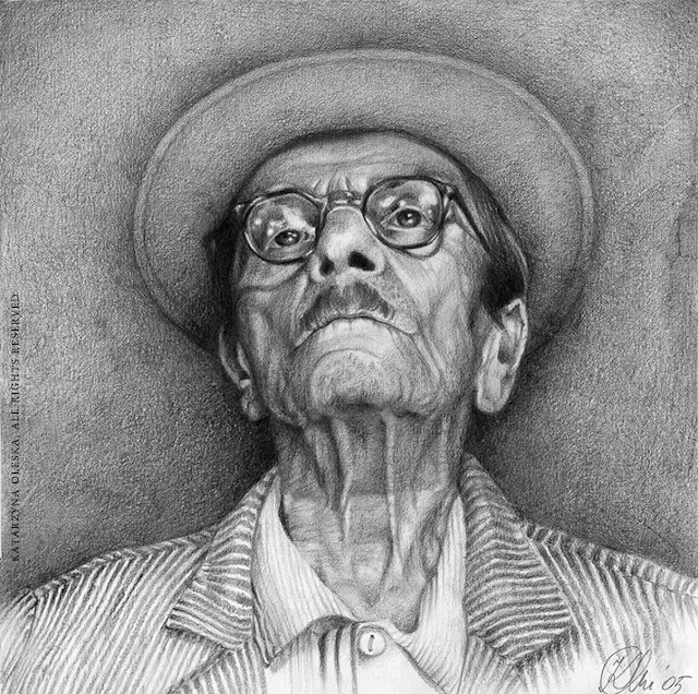 Nikifor, pencil on paper, 30x30cm