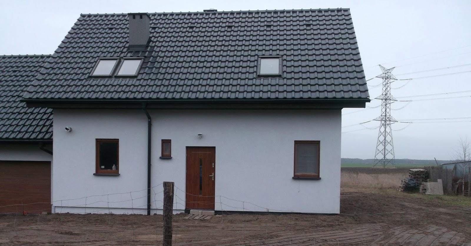 dom drewniany szkieletowy otynkowany