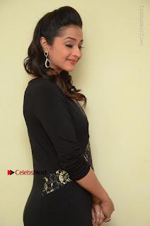 Telugu Actress Manasa Manohar Stills in Black Long Dress at Naku Nene Thopu Turumu Trailer Launch  0010.JPG
