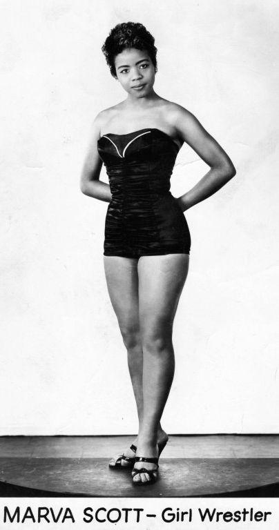 Womens Pro Wrestling Marva Scott - Vintage Lady Wrestlers-3995