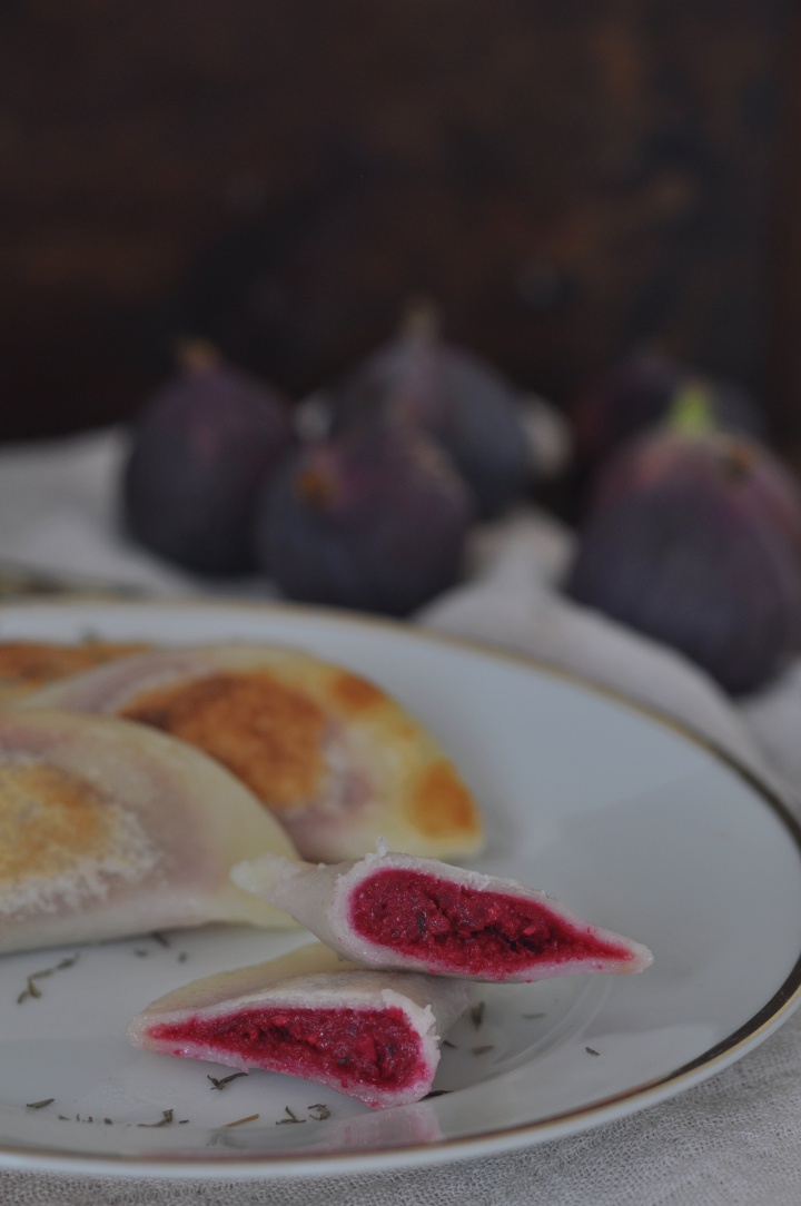 gluten free Pierogi, filled with Red Beet - for those days that call for soul food