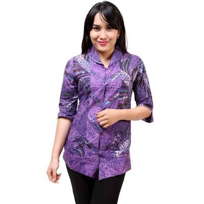 Model Baju Batik Kantor Terbaru Bulan Ini