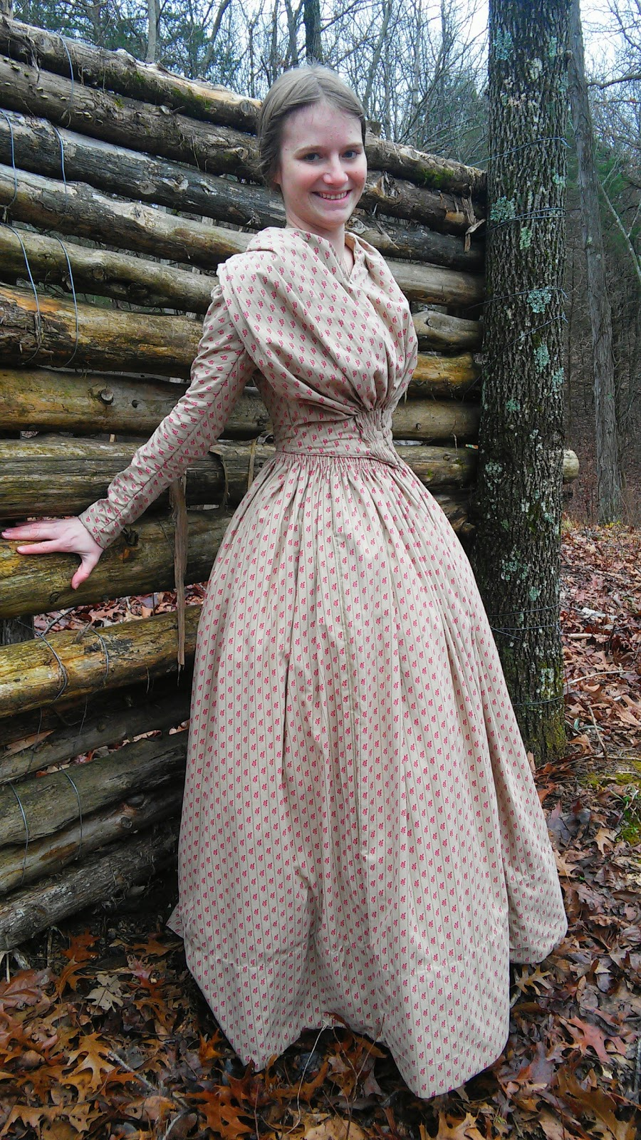 The Sewing Goatherd: The Completely Handsewn 1840's Dress - Done!