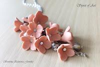 Обици Коралови цветя от полимерна глина