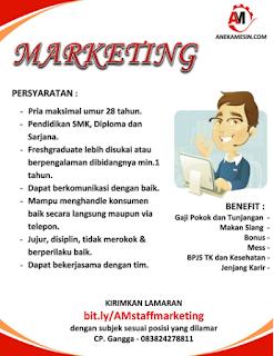 Lowongan Marketing di PT Khalifah Niaga Lantabura (Aneka Mesin)