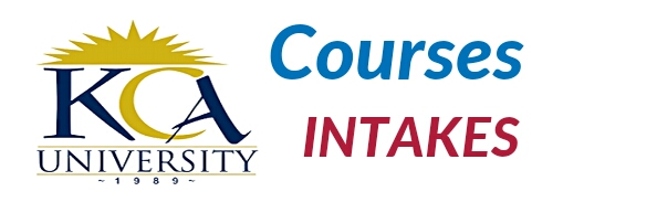 KCA university intakes and courses
