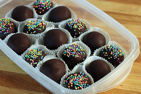 Boules de chocolat sans cuisson