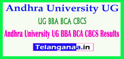 Andhra University UG BBA BCA CBCS 2018 Results