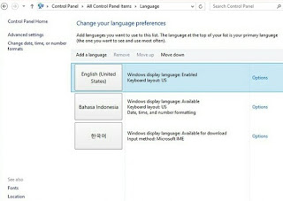 Cara Merubah Bahasa Operating System windows 8
