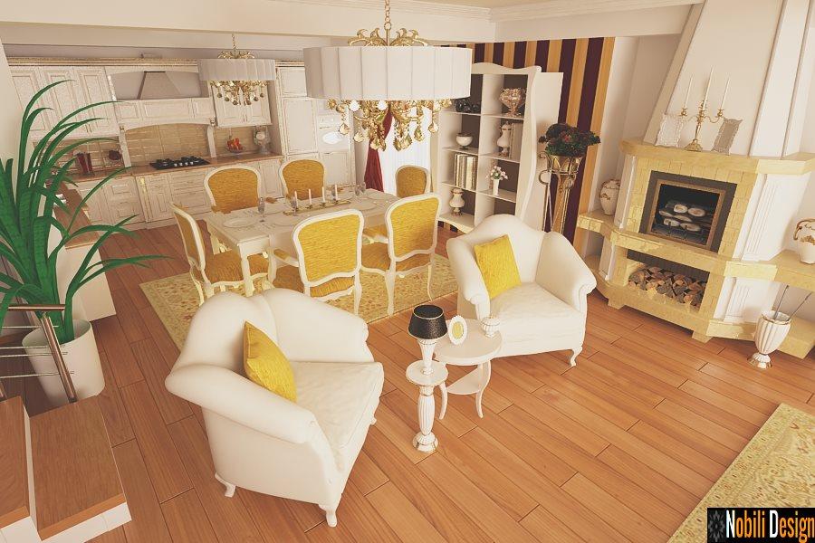 Design interior living clasic Bucuresti - Servicii design interior - Amenajari Interioare Bucuresti