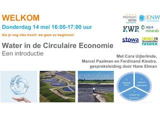 Openingsscherm webinar Water in de circulaire economie