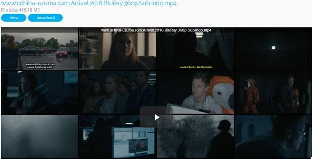 Screenshots Download Film Gratis Arrival (2016) BluRay 360p Subtitle Indonesia 3gp