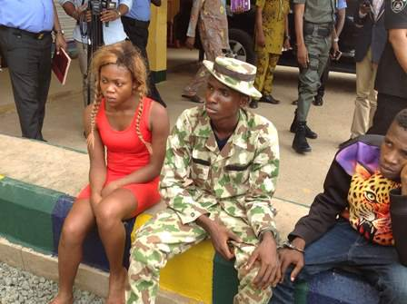 dismissed soldier arrested for kidnap aba