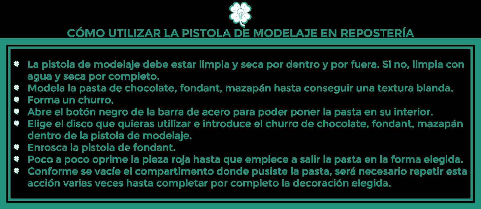CÓMO UTILIZAR UNA PISTOLA DE MODELAGE EN REPOSTERÍA