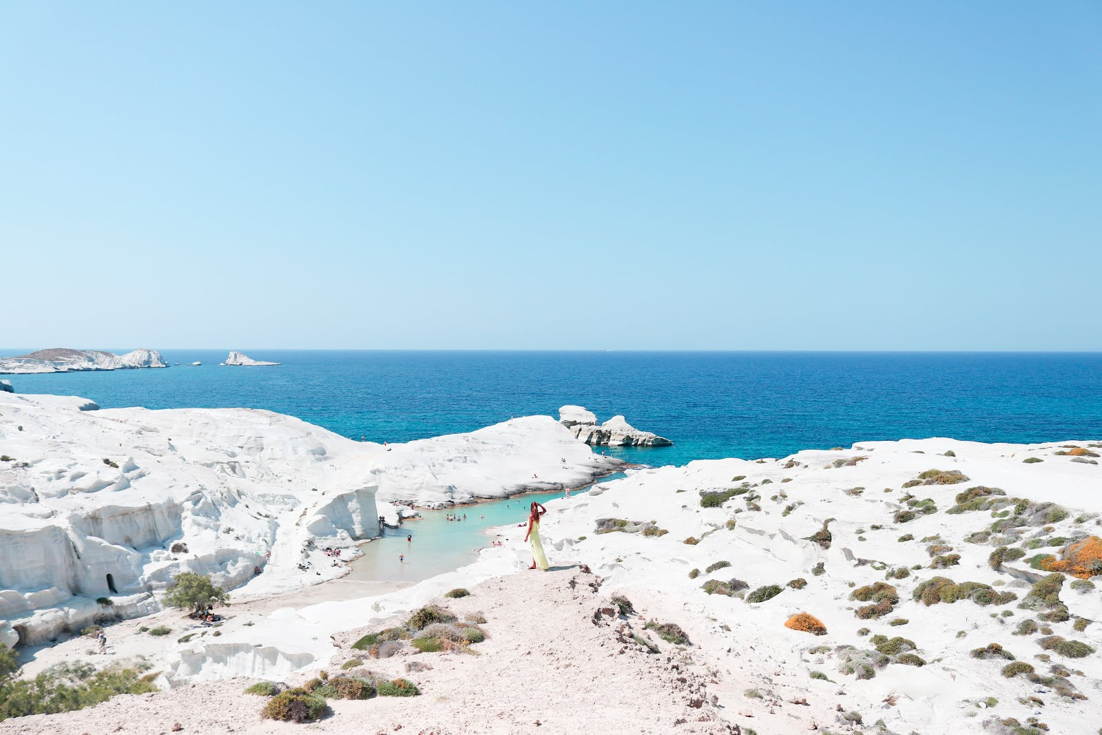 Sarakiniko Beach in Milos island, Greece