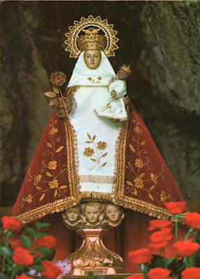 Virgen de Covadonga, postal de Arribas, 1974