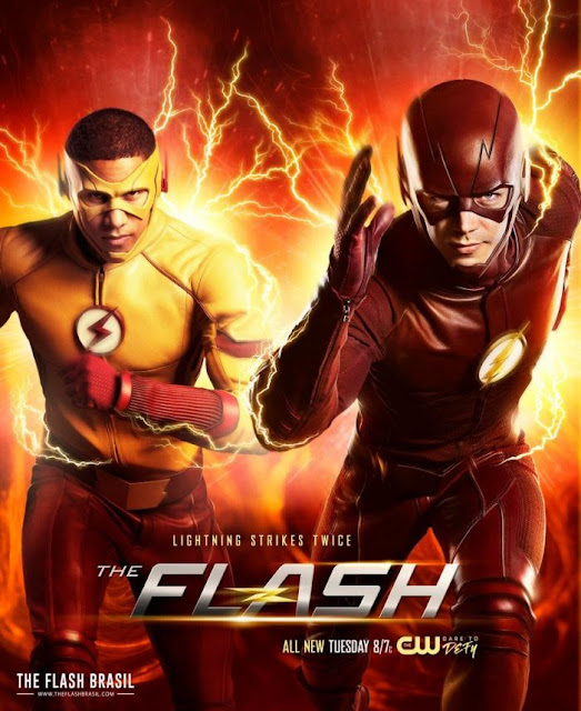 Flash acompañado de Kid Flash, aka Wally West