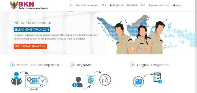 Cara Daftar Online CPNS 2018 sscn.bkn.go.id Agar Tidak Lemot