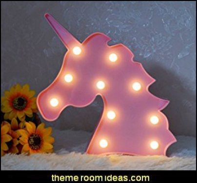 Unicorn LED Night Lamp Decorative Marquee Signs Battery Operated Light for Party Supplies Birthday Toys and Gifts-Wall Decoration