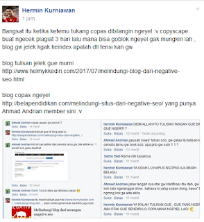 post digroup facebook terkait admin copas