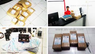 Foto-foto pengiriman/packing produk ALV Efek