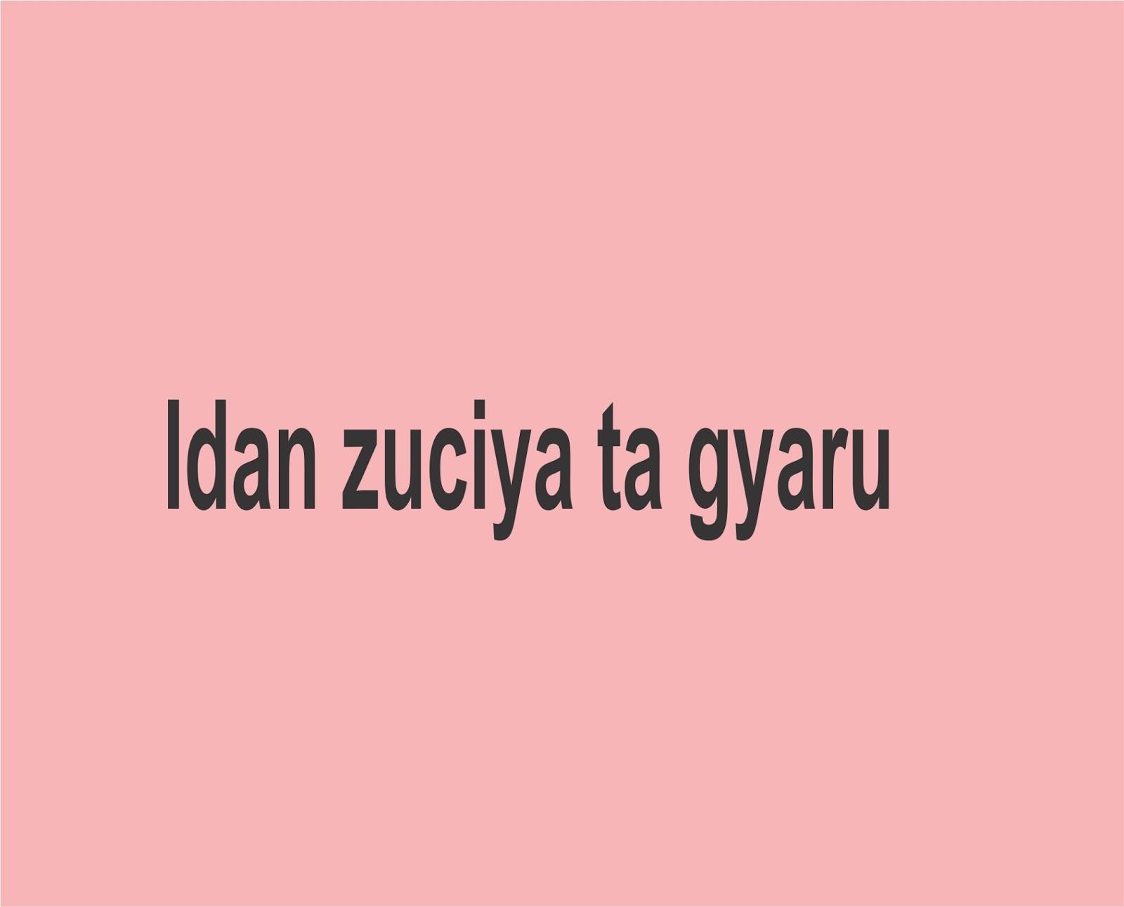 Idan zuciya ta gyaru - Gidan Novels | Hausa Novels