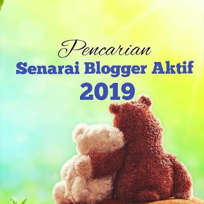 Pencarian Senarai Blogger Aktif 2019