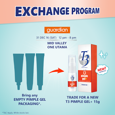 Free T3 Pimple Gel Exchange Program