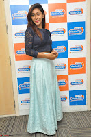 Shravya in skirt and tight top at Vana Villu Movie First Song launch at radio city 91.1 FM ~  Exclusive 35.JPG