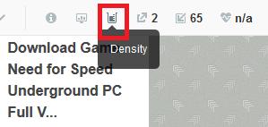 klik density pada SEOQUAKE