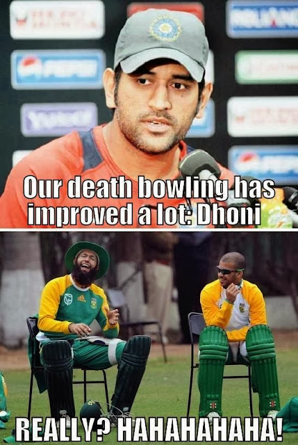 mahendra singh dhoni funny excuses after losing against south africa