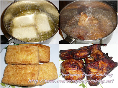 Tokwa't Manok - Cooking Procedure