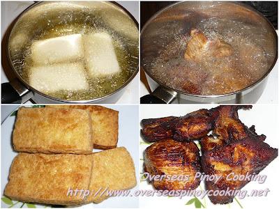 Tokwa't Manok - Cooking Procedure
