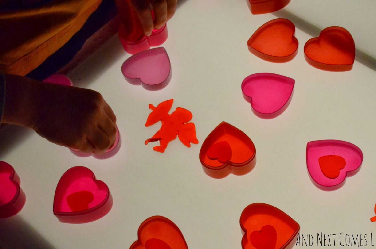 Putting sticky hearts into heart containers from And Next Comes L
