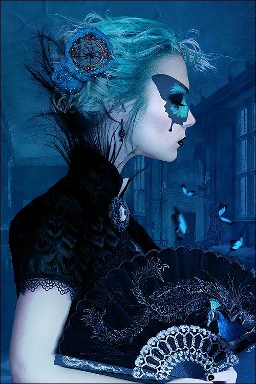 Alexandra V. Bach deviantart foto-manipulações photoshop fantasia sombria surreal mulheres beleza impressionante gótico