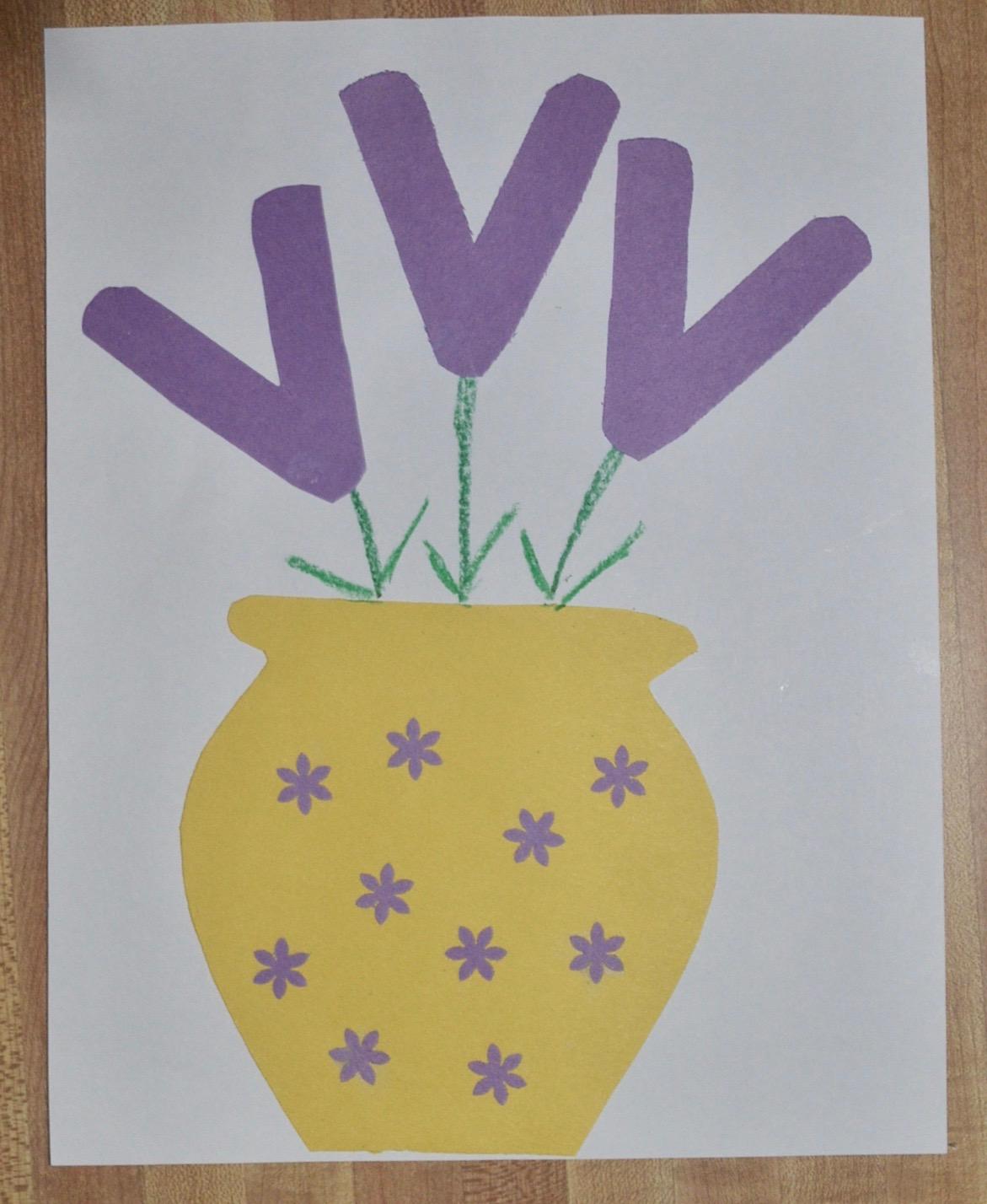 Preschool Violet Flower Craft