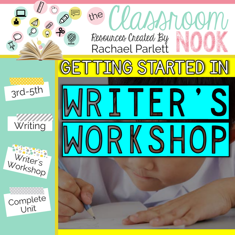 Need a little help in getting started with writer's workshop in your classroom?  Check out this step-by-step unit that will help you get your writer's workshop up and running successfully in your classroom!