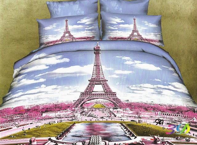 Sprei Jepang Motif Menara Eiffel Sprei Cantik Sprei Katun Jepang