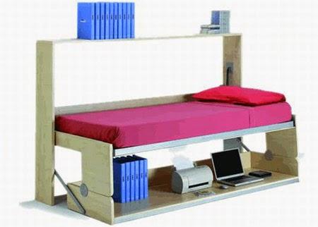 Como hacer una cama con escritorio ingeniando for Colchon cama sencilla